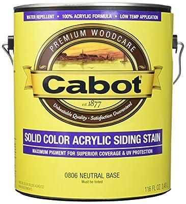 Cabot 145970 Siding Stain Acrylic Pine Neutral Base Solid 6-1/2 Yr Warranty 4 Hr, 1 gallon