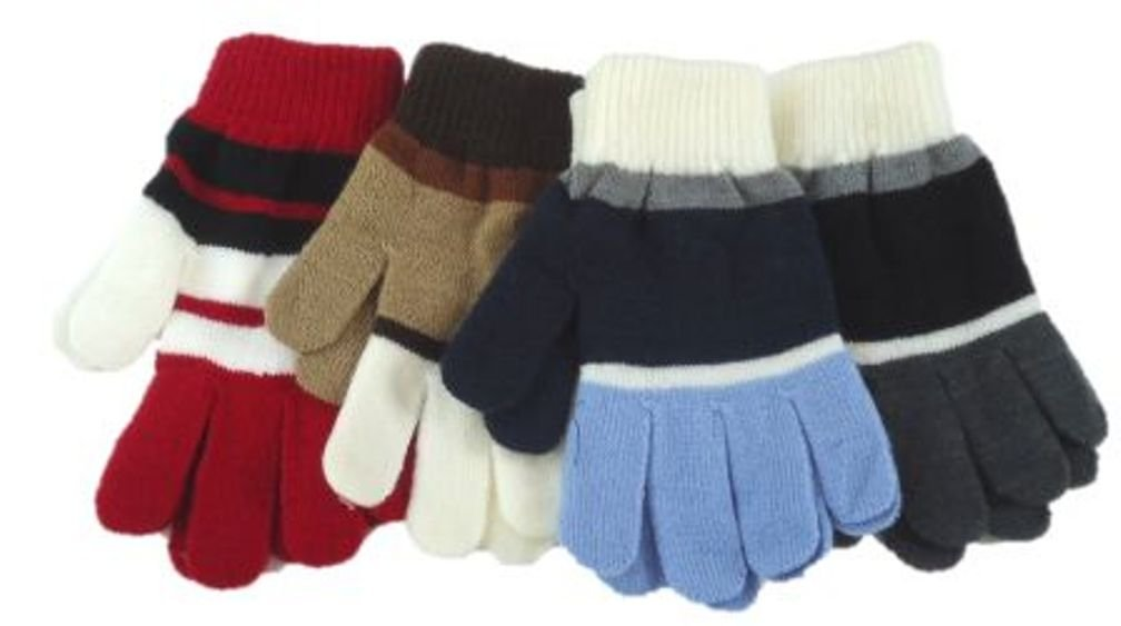 Set of Four Pairs of One Size Magic Stress Gloves for Ages 5-15 Years