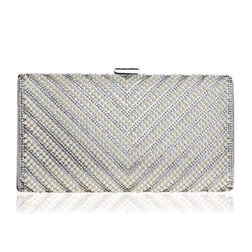 Silver Haxibkena Da Silver A Pochette Donna Tracolla color Borsa Con 6qzxr6ZO