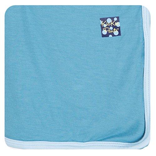 KicKee Pants Solid Swaddling Blanket, Blue Moon