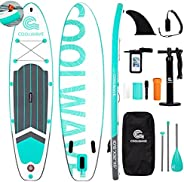 """COOLWAVE 10'6"""" Inflatable Stand Up Paddle Board with Camera Seat, Accessories Including Waterproof Ph"""