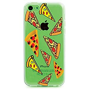 TPU Case for iPhone 5c - Pizza Slices Pattern (Clear 1)