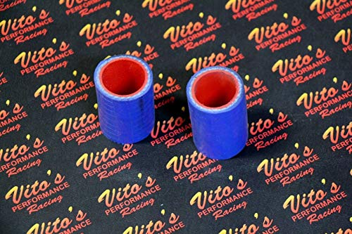 2 X Vito's Yamaha Banshee Exhaust Pipe Clamps All Years Fmf Toomey Blue - Exhaust Performance Fmf