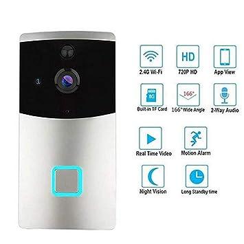 HD 720P WiFi Visual Intercom Door Phone Timbre Inalámbrico De Video con PIR Detector De Movimiento Videoportero Inteligente Vista Nocturna: Amazon.es: ...