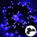 Excelvan 17M Solar String Lights,100 LED Light-Sensitive Starry Fairy lights Ambiance Lighting for Outdoor Decorations,Home,Patio,Garden,Landscape,Christmas Party,Xmas Tree,Waterproof,Blue