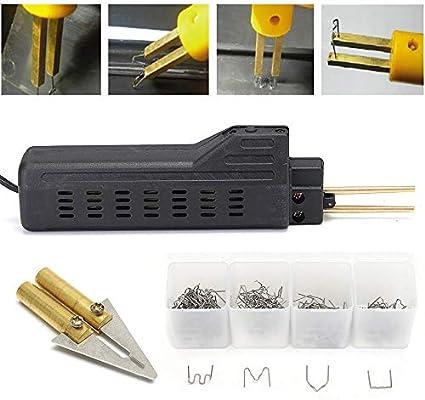 220V Hot Plastic Stapler Bumper Fairing Weld Gun Repair Kit Staples For Car Moto