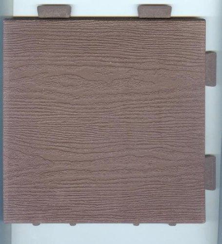 Price comparison product image Wood Composite Modular Tile (Brown)