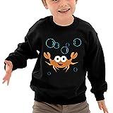 JasonMade Kids Crab GhostCrawler Fashion Crewneck Long Sleeve T-Shirt