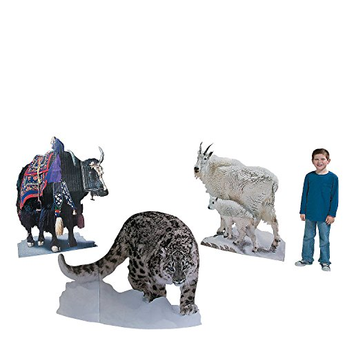 Fun Express - Highest Power Animal Stand Ups - Party Decor - Large Decor - Floor Stand Ups - 3 Pieces]()