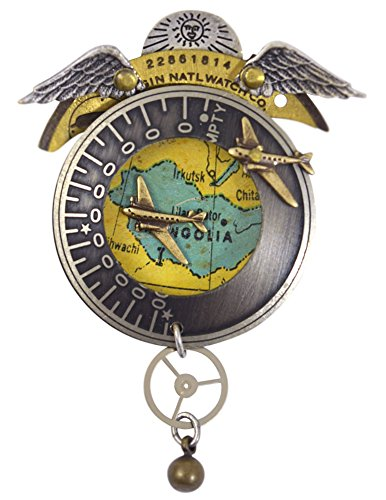 Mullanium Jewelry All Around the World Vintage Watchworks Pin/Brooch from Mullanium Jewelry