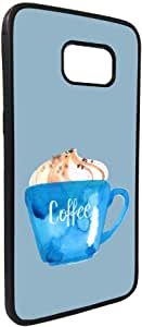 Cup of coffee in a foam Printed Case forGalaxy S7 Edge