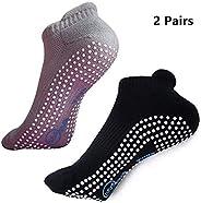 BESIXER Yoga Socks Non Slip Skid Socks with Grips for Yoga, Barre, Pilates, Men and Women, Pack of 2, US 5-11