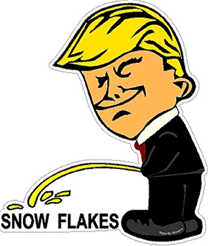 Signs By Woody Piss on Snow Flakes Political Pro-Trump Anti-Liberal NRA Window Sticker Decal