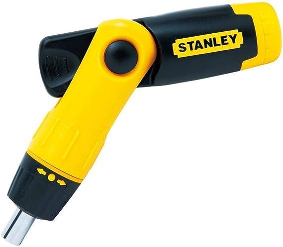Stanley 0-63-022 Tournevis porte-embouts /à cliquet poign/ée revolver Coffret de 25 pi/èces
