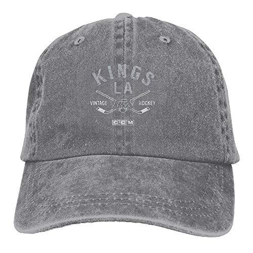 Denim Cap Headgear (Unisex Kings Denim Dad Cap Baseball Hat Adjustable Sun Cap Headgear One Size)