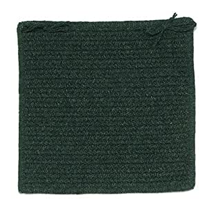 Courtyard Square Braided Chair Pad Set Of 4 Color Cypress Green Home Kitchen