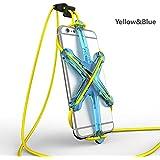 「Xporter」オートバイ自転車セルフォンランヤードストラップfor iPhone 6/ 6s / 6plus / 6splusおよび他のスマートフォンウェアラブルAttachment forスポーツアクティビティ(ブルー&イエロー)