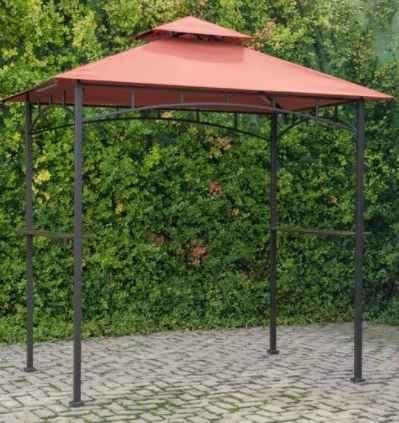 Gazebo Canopy Tent Cenador de Parrilla, Patio, 8 x 10, con Luces LED, Parte Superior Suave, Terra Cotta: Amazon.es: Jardín