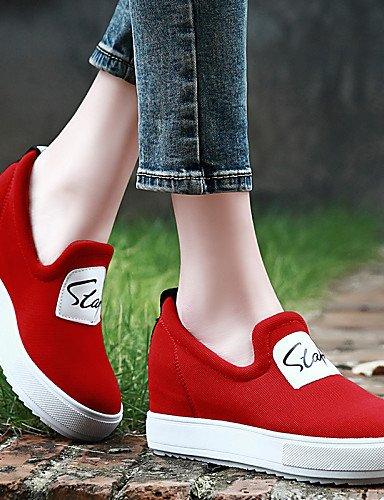 Zapatos cn36 Negro Casual eu36 y red Plataforma red cn39 Tela uk4 Mocasines de ZQ Rojo us6 mujer red Vestido eu39 us8 eu39 Deporte us8 uk6 Comfort uk6 Oficina Creepers Trabajo cn39 Aqfdw6fx