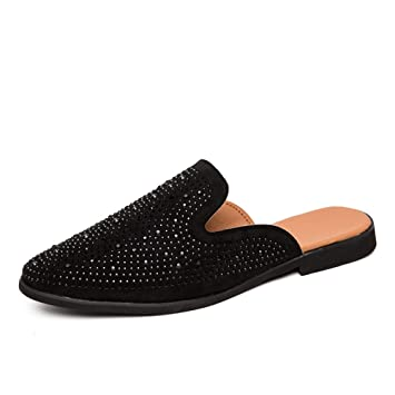 9179c8b13aaae Amazon.com: HONGkeke Men's Slip-on Casual Half Loafers for Men ...