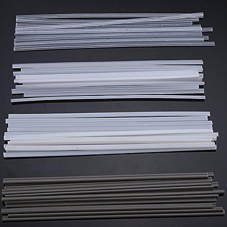 MASUNN 50Pcs Plástico Varillas De Soldadura Abs/PP/PVC/PE Soldadura Palos 200 Mm para Soldadura De Plástico