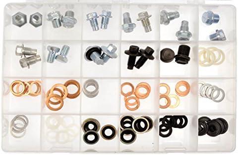 534 pcs KS TOOLS Oil Sump Drain Plug and Washer Assortment