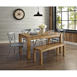 Better Homes and Gardens Bryant Dining Table, Rustic Brown