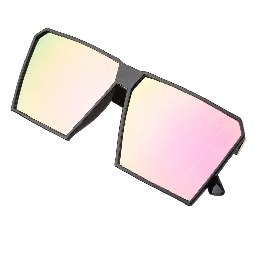 Mens Fashion Square Oversized Mirror Sunglasses Retro Vintage Large Frame Eyewear Unisex BLDEN