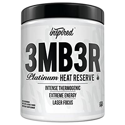 Inspired Nutraceuticals 3MB3R | Platinum Heat Reserve Intense Thermogenic, Carnitine, Ashwagandha, Dynamine, Cocobuterol, Dandelion Extract, Choline | Maui Wowie | 40 Servings
