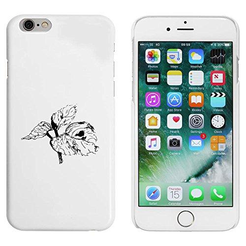 Blanc 'Feuilles' étui / housse pour iPhone 6 & 6s (MC00088189)