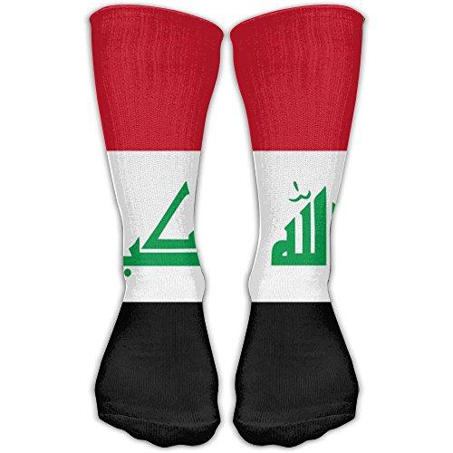 Iraqi Flag Unisex Soccer Socks Knee High Long Stockings Sports Outdoor For Men Women