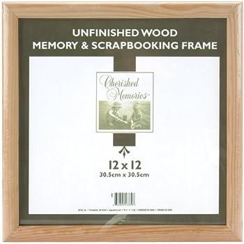 Amazon Com Darice 12x12 Unfinished Memory Frame