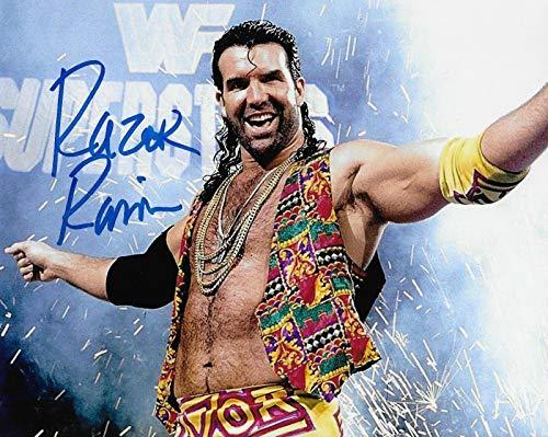 Scott Hall Razor Ramon Wwe Wcw Signed Autograph 8x10 Photo #3 W/Proof - Autographed Wrestling Photos