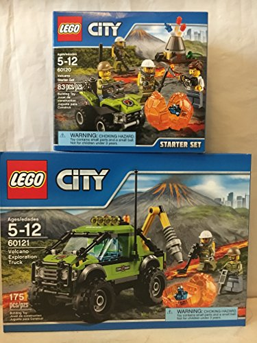 Lego City Volcano Exploration Truck & Lego City Volcano Starter Set