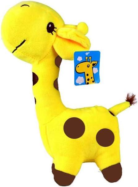 Juguete de acostarse super suave relleno felpa de la jirafa Juguete suave de la felpa animal de la selva y almohada para Niños y Niñas (amarillo)