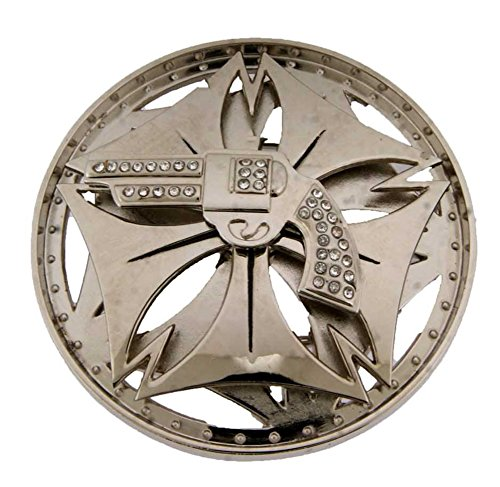 Silver Metal Gun Belt Buckle Cowboy Cowgirl State Texas Usa Style Rodeo Western