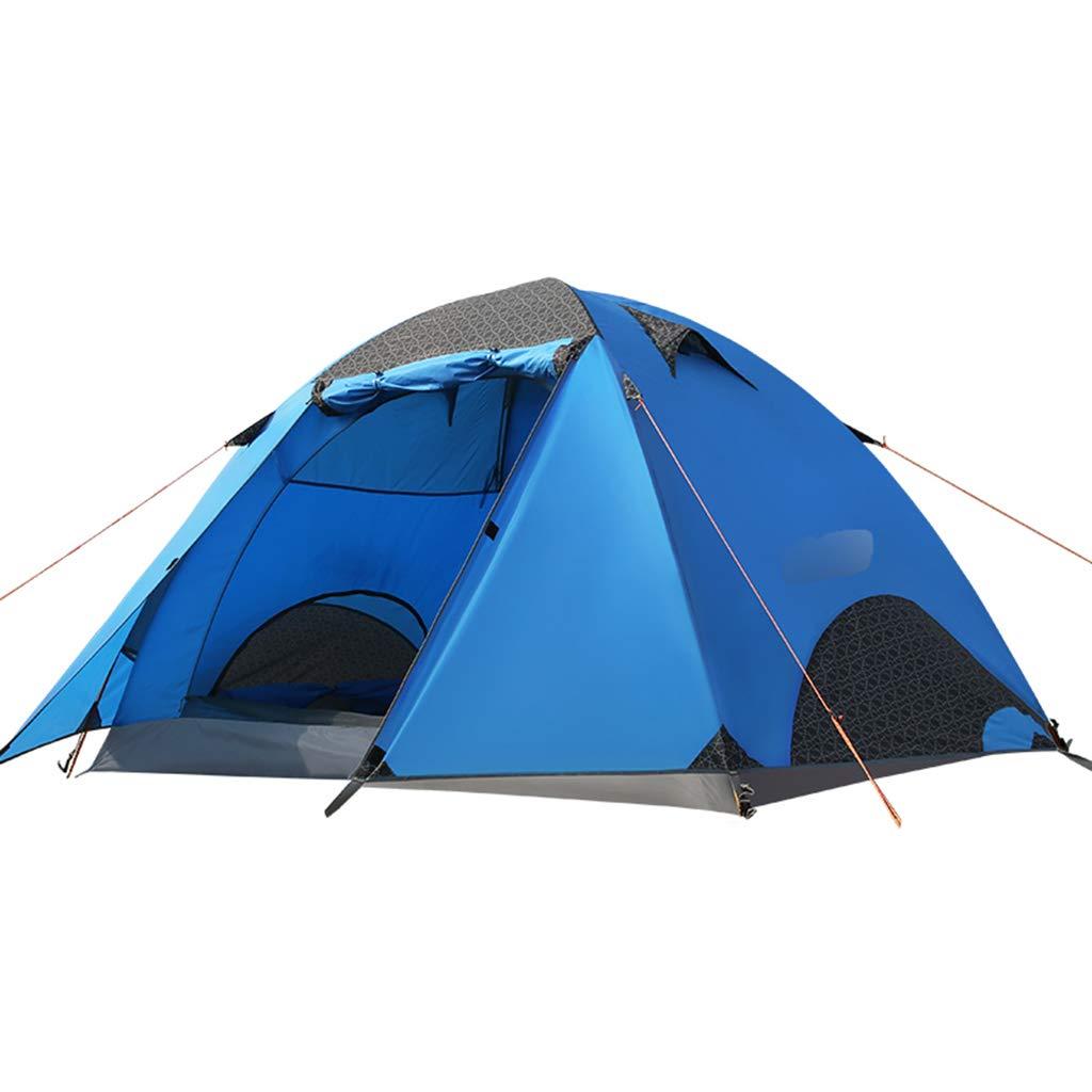 YaNanHome Zelt des Zeltes im Freien Starkes regendichtes Zelt mit 2 Leuten (Farbe : Blau, Größe : 210  130cm)