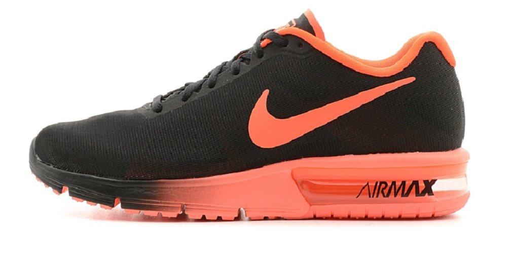 NIKE Men's Air Max Sequent 2 Running Shoe B01I2OI3IQ 11.5 US|Black/Total Crimson
