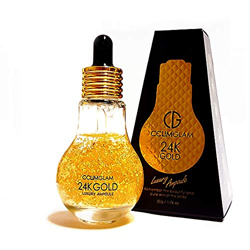 Korean Skin Care – 24K GOLD CCLIMGLAM LUXURY Serum for Face, Anti Aging, Anti Wrinkle, Skin whitening, Face Moisturizer for Dry Skin, Korean K Beauty Facial Serum – 1.76 oz