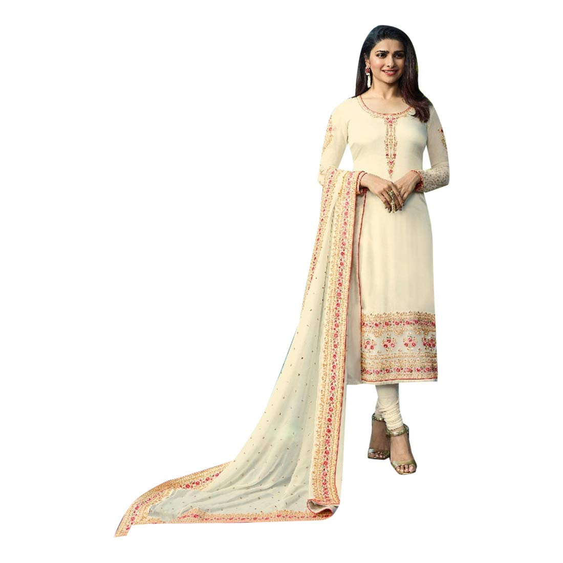 Indian Ethnic Straight Salwar Kameez suit With Dupatta Pajami Style Party Wear 7320