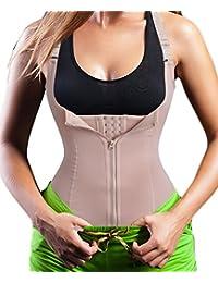 Women's Underbust Corset Waist Trainer Cincher Steel Boned Body Shaper Vest with Adjustable Straps