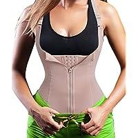 Eleady Women's Underbust Corset Waist Trainer Cincher Steel Boned Body Shaper Vest with Adjustable Straps