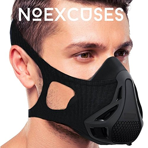 NOEXCUSES Exercise Workout Mask 3.0 [PLUS Carrying Case] - High Altitude Elevation Simulation - for Gym, Cardio, Fitness, Running, Endurance and HIIT Training [4 Easy HQ Breathing Levels] by NOEXCUSES