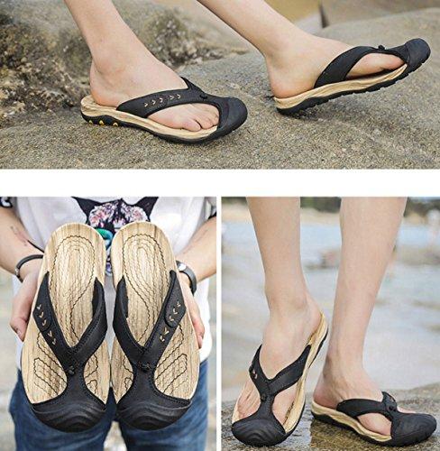 Sandalias Sandalias De Los Hombres Zapatillas Zapatos De Vadeo Exterior Black
