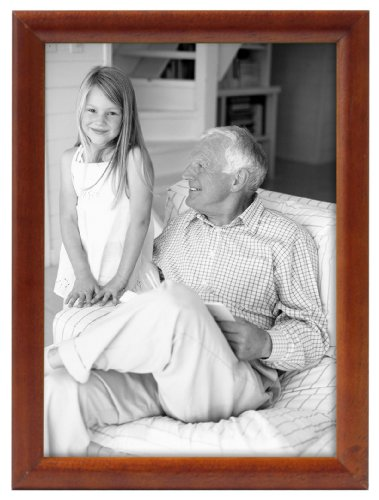 Bullnose Tabletop Picture Frame - MCS 8x10 Inch Fashion Bullnose Frame, Rosewood (55922)