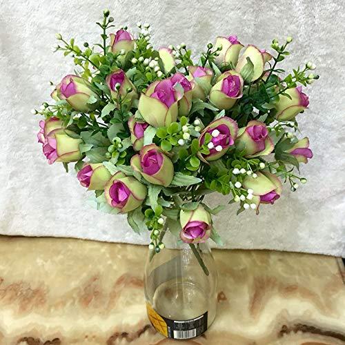 549d9fde19e Buy Rose Simulation Bouquet, SELLBINDING 1 Bunch of 10 Head European ...