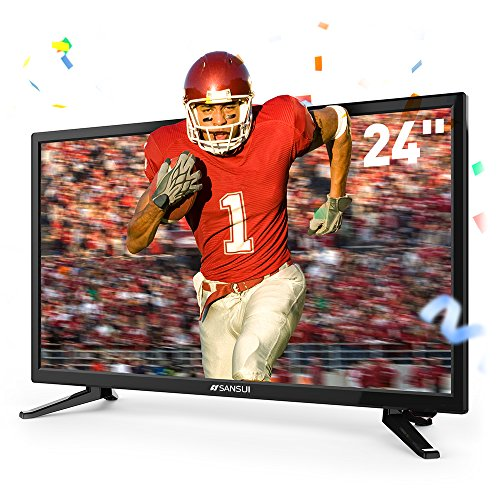 SANSUI-LED-TV-24-720p-HD-60Hz-Ultra-Slim-Flat-Electronics-Television-High-Definition-and-Widescreen-Monitor-HDTV-with-HDMI-PCA-Input-and-USB-2018-Model-24-Inch-720p