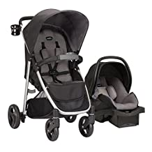 Evenflo FlipSide Travel System with LiteMax Infant Car Seat, Glenbarr Grey, 56422030C