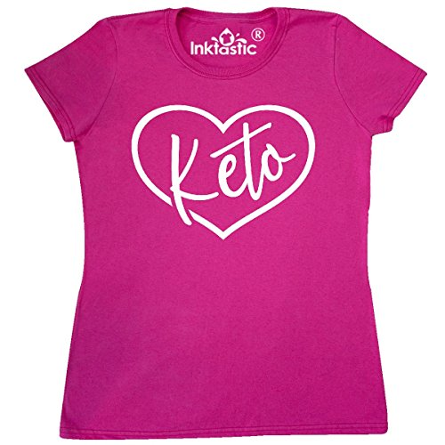 inktastic I Love Keto Women's T-Shirt Small Cyber Pink