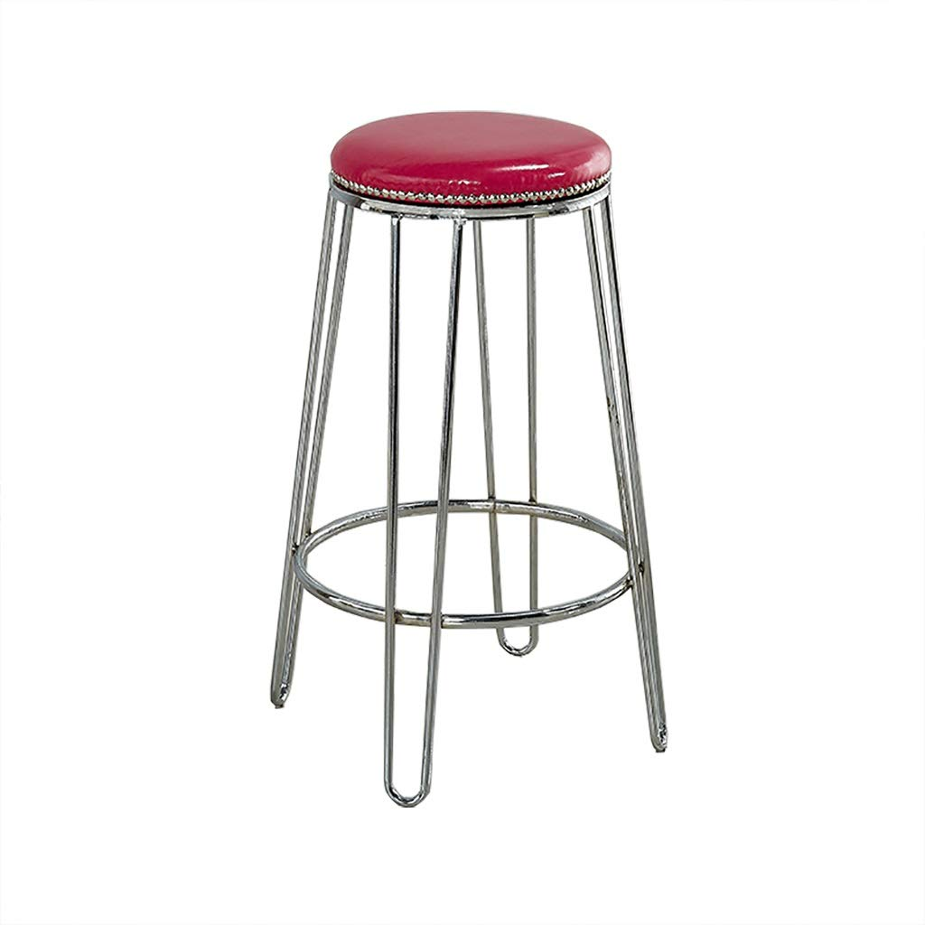 Red Barstools,Bar Stools Simple Nordic Design Dining Chair Modern Minimalist Barstool European High Barstools Kitchen (color   Red)